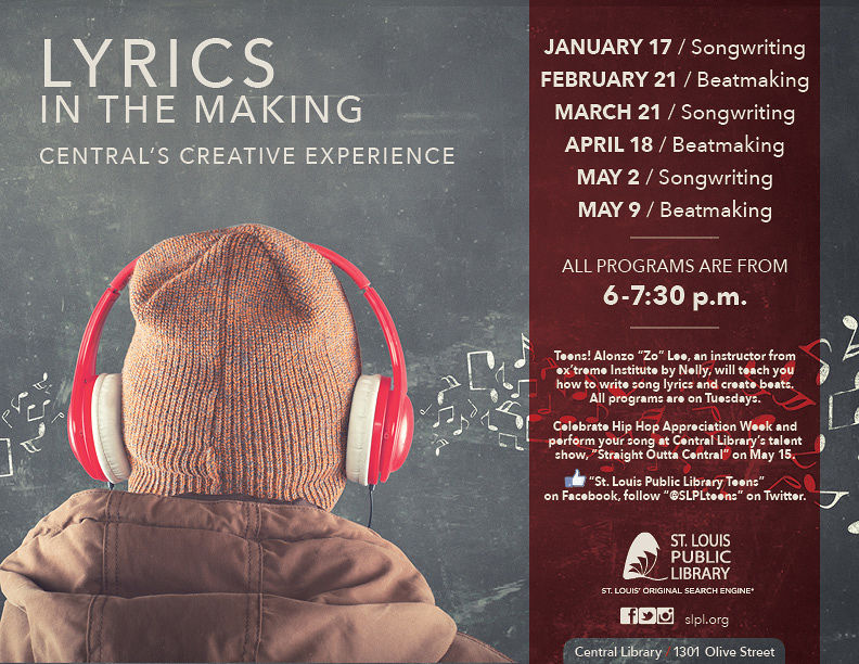 Lyric song lyric search engine : Lyrics in the Making: Beatmaking | Events | St. Louis Public Library